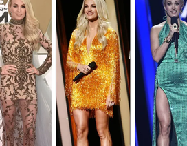 Carrie Underwood thay 9 bộ đồ trong 1 buổi tối