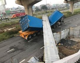 Vụ xe container kéo sập dầm cầu: Dầm cầu vượt thấp hơn thiết kế