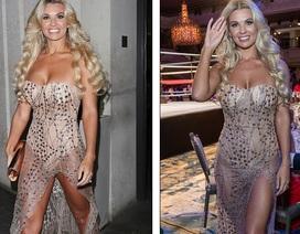 Người đẹp Anh diện váy xuyên thấu táo bạo
