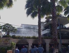 Cháy biệt thự của một đại gia bất động sản ở Đà Nẵng