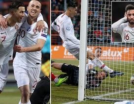 C.Ronaldo ghi bàn thứ 99, Bồ Đào Nha giành vé dự Euro 2020