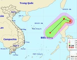 Xuất hiện bão sức gió giật cấp 13 gần Biển Đông