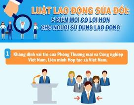 Luật Lao động sửa đổi: 5 điểm mới có lợi cho người sử dụng lao động