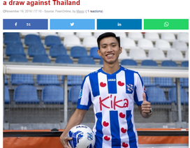 Báo Hà Lan khen ngợi Văn Hậu sau trận đấu với Thái Lan