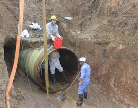 Ngừng cấp nước vì đường ống dẫn nước sạch sông Đà gặp sự cố