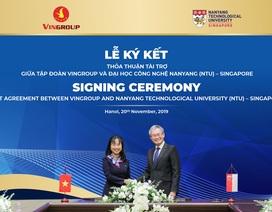 Vingroup tài trợ ĐH Công nghệ Nanyang 5 triệu đô la Singapore cấp học bổng cho người Việt