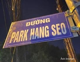 """Gỡ tấm biển """"Đường Park Hang Seo"""" ở Sài Gòn"""