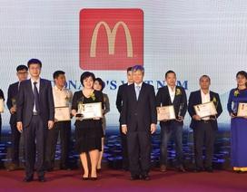 McDonald's liên tục 2 năm lọt Top 100 Sản phẩm – Dịch vụ Tin & Dùng