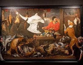 """Bức tranh """"Chợ gia cầm"""" bị di chuyển vì khiến sinh viên... """"khó ăn"""""""