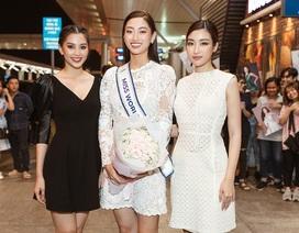 Đỗ Mỹ Linh, Tiểu Vy tiễn Lương Thùy Linh đi thi Hoa hậu Thế giới