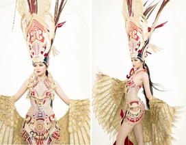 Ngọc Châu mang trang phục dân tộc vô cùng gợi cảm đến Hoa hậu Siêu quốc gia