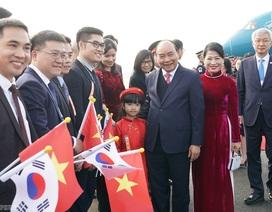 Thủ tướng đến Busan, bắt đầu chương trình tham dự Hội nghị cấp cao ASEAN-Hàn Quốc