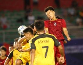 Đức Chinh ghi 4 bàn, U22 Việt Nam thắng đậm U22 Brunei