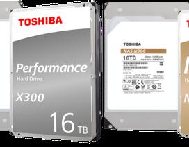 Toshiba chính thức công bố hàng loạt ổ cứng dung lượng đến 16TB
