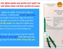 Nghiên cứu hỗ trợ ung bướu đầu tiên ở Việt Nam được cấp Bằng sáng chế độc quyền