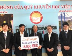 Shinnyo-en Nhật Bản, Quỹ Khuyến học Việt Nam tiếp tục trao 18.000 USD cho học sinh, sinh viên nghèo vượt khó