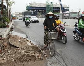Hà Nội: Diện mạo nhếch nhác tại tuyến đường 3.100 tỷ vừa thông xe