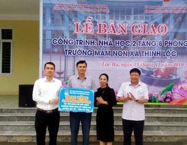 PV GAS tham gia tài trợ xây dựng công trình Trường Mầm non Hà Tĩnh