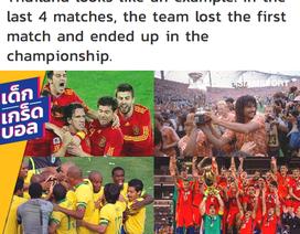 Báo Thái Lan gây sốc khi so sánh đội nhà với Brazil, Tây Ban Nha