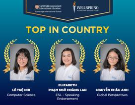 Ngưỡng mộ bảng thành tích của 3 học sinh đoạt giải cao nhất quốc gia kỳ thi IGCSE