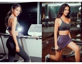 Hoa hậu Phương Khánh khoe đường cong nóng bỏng trong phòng tập