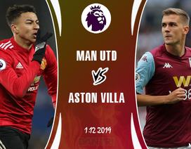 """Về sân nhà, Man Utd có đủ sức """"bắt nạt"""" Aston Villa?"""