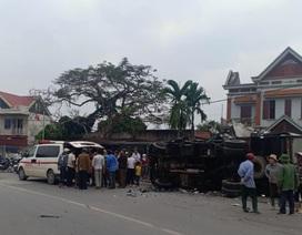 Hai xe tải đối đầu, 2 người thương vong