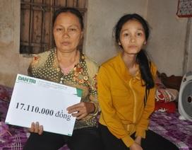 Người mẹ đơn thân Thúy Hương bị ung thư được bạn đọc giúp đỡ tiếp tục đến viện