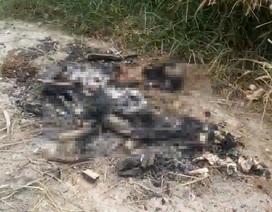 Phát hiện xương người nghi bị đốt trong khu nghĩa địa
