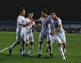 """Văn Hậu: """"May mắn là U22 Việt Nam có bàn thắng trước Singapore"""""""