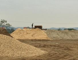 Bãi tập kết cát không phép ngang nhiên hoạt động tại Hà Tĩnh