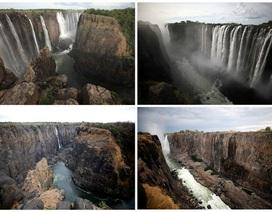 Hạn hán kinh hoàng, thác nước cao 100 mét chỉ còn... vài vũng nhỏ