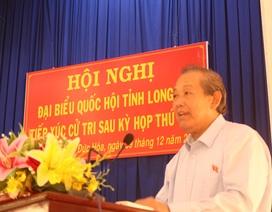 """Cử tri Long An kiến nghị nhiều vụ việc """"nóng"""" với Phó Thủ tướng Trương Hòa Bình"""