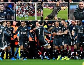 """Leicester thắng đậm """"4 sao"""", bám đuổi Liverpool trong cuộc đua vô địch"""