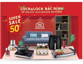 LOCK&LOCK siêu khuyến mãi lớn nhất năm tại kho F2C Bắc Ninh