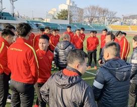 U23 Việt Nam tập dưới giá rét tại Hàn Quốc