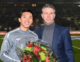 Văn Hậu được vinh danh, dự bị trận Heerenveen thua Willem II