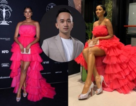 Hoa hậu Hoàn vũ 2011 diện váy cảm hứng hoa sen của nhà thiết kế Việt