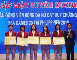 Tuyên dương 5 cầu thủ đội tuyển bóng đá nữ Việt Nam