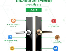 Cận cảnh sản phẩm khóa thông minh siêu bảo mật AN-1 từ AppotaHome