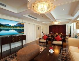 Cận cảnh TV NanoCell 8K trong phòng Tổng thống khách sạn MetroPole