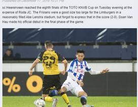 Báo Hà Lan nói gì về màn ra mắt của Văn Hậu ở Heerenveen?