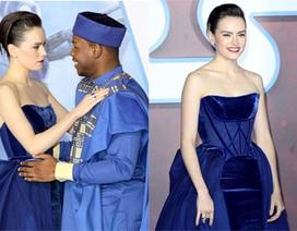 Daisy Ridley khoe da trắng mịn trong buổi ra mắt phim Star Wars