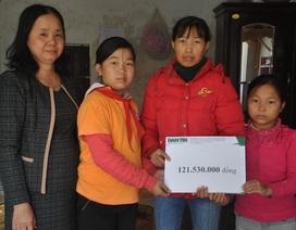3 mẹ con chị Nụ được bạn đọc giúp đỡ hơn 120 triệu đồng
