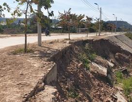Quảng Trị:  Hoàn thành chưa lâu, tuyến đường 60 tỷ đồng đã sạt lở nặng