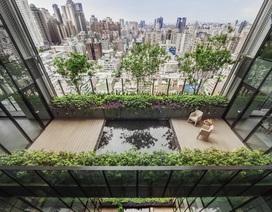 """Khu chung cư """"độc, lạ"""" với rừng cây xanh phủ từ tầng 1 lên tầng thượng"""