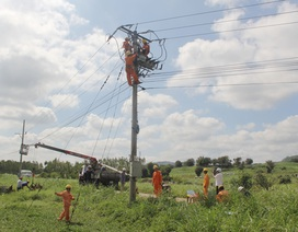 Một công nhân bị điện giật tử vong trên cột điện