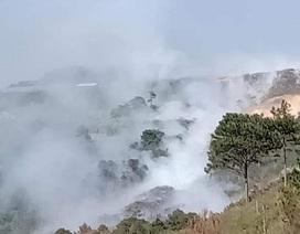Đà Lạt chìm trong khói bụi vì cháy bãi rác
