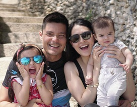 Vợ chồng mỹ nhân đẹp nhất Philippines hạnh phúc kỷ niệm ngày cưới