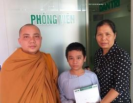 Bạn đọc giúp đỡ cậu bé bị điếc sống trong chùa Hồng Quang số tiền hơn 126 triệu đồng